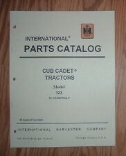 CUB CADET 123 TRACTOR & ENGINE ILLUSTRATED PART LIST