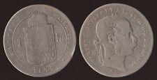 UNGHERIA HUNGARY 1 FORINT FIORINO 1879 FRANZ JOSEPH I ARGENTO SILVER
