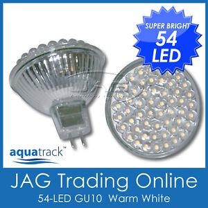 12V 54-LED MR16 WARM WHITE DOWN LIGHT GLOBE/BULB House/Ceiling/Boat/Caravan