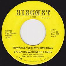 "BIG DADDY WAGENER - ""NEW ORLEANS IS MY HOMETOWN"" -  Vocal / Instrumental  (VG+)"