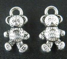 20pcs Tibetan Silver Double Bear Charms Pendants 16x9mm ZN48263