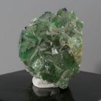 479.65ct Green Fluorite Crystal Gem Mineral Specimen Clear Nigeria Africa