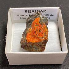 REJALGAR Realgar - Pola de Lena, Asturias - CAJA CAJITA 4x4 - SPAIN MINERAL N793
