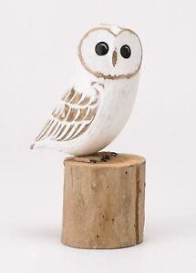 ARCHIPELAGO Hand Carved Wooden Birds -  Baby Barn Owl