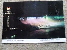 .POSTCARD NIAGARA FALLS,ONTARIO,CANADA,AMERICAN FALLS ILLUMINATED.1981.