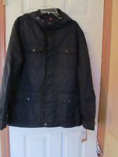 NWT Men's Docker's 100% Nylon hooded 6 pocket fleece lined Dark Blue Size L $160