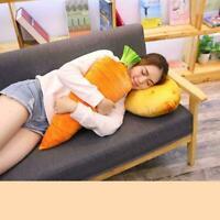Novelty Food Plush Toy Stuffed Throw Pillow Home Sofa 3D Fruit Cushion R3I3