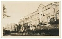 Victoria St. Amherst Nova Scotia Real Photo Postcard Woolworth R. C. Fuller RPPC