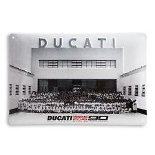Ducati Anniversary Advertisement Metal Sign Metal Shield Shield Metal Sign NEW