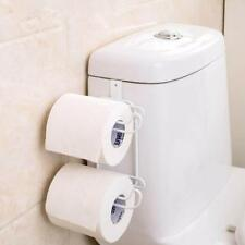 Toilet Paper Roll Holder Bathroom Tissue Storage Wall Mount Stand Mounted Rack