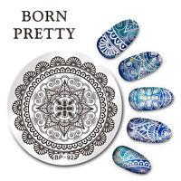 BORN PRETTY Nail Art Stamping Image Plate Stencil Arabesque Design DIY BP-92