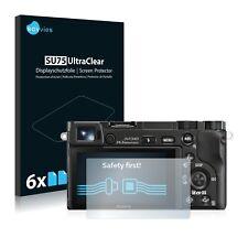 6x Displayschutzfolie für Sony Alpha 5000 / 6000 Schutzfolie Klar Folie