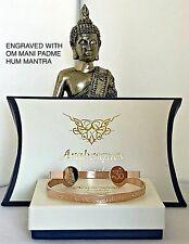 BUDDHIST/BUDDHA OM MANI PADME HUM MANTRA BANGLE/ROSE GOLD PLATED LADIES/MENS