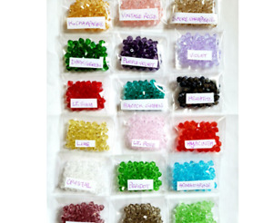 19 colors x 40pc/color, Lot of 6mm KYL Precision Cut Precious Crystal Beads