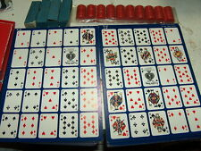 2 sets of Po-Ke-No cards - The Thrill Of Poker (boards & chips only) NO BOX 3/1