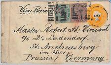 51864 - INDIA -  POSTAL HISTORY - POSTAL STATIONERY COVER to GERMANY 1886