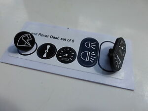Land Rover Series 3 Dash Panel Instrument Tab Decals Refurbishment ALL MODEL SET
