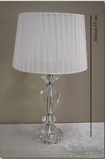 Lampada da tavolo moderno classico lume base cristallo H 53cm abatjour cod 15611