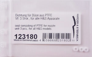 HARDER & STEENBECK PTFE NOZZLE SEAL (PACK OF 3) - FITS ALL H&S AIRBRUSHES 123180
