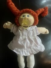 """Vintage 1985 CABBAGE PATCH KID 16"""" CPK Doll  Red Hair Braids Blue Eyes Clothes"""