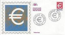 ENVELOPPE 1er jour - Le TIMBRE EURO - PARIS 1999