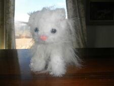 Rumpy Manx Kitten Cat Long Fur White Persian Stuffed Plush Animal Toy Lifesize