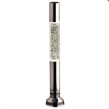 Flat Top Tall Glitter Lava Lamp Provide A Warm Glow In The Bedrooms -Silver 57cm