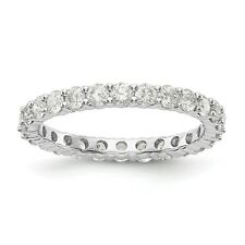 1.5ct Natural Diamond Wedding Ring Womens Stackable Eternity Band 14k White Gold