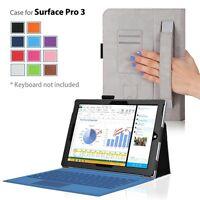 Surface Pro 3 Tablet Leather Flip Folio Case Cover Premium Folding Sleeve