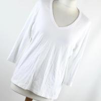 Marks & Spencer Womens Size 20 White Plain Cotton Basic Tee