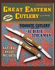 GREAT EASTERN CUTLERY KNIFE-{TIDIOUTE} #82 DIXIE STOCKMAN-NATURAL CANVAS MICARTA