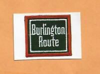 "BURLINGTON ROUTE  RAILROAD DECAL STICKER  1 1/2"""