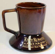 Tony Roma's Ribs Frangelico Hazelnut Liqueur Glazed Ceramic Brown Mug Coffee Cup