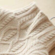 Women Pullover Sweater Turtleneck Autumn Winter Long Cashmere Knit High Collar