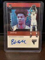 2019-20 Panini Chronicles Basketball Brandon Clarke RC Red Prizm Flux Auto 🔥