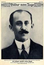 Der berühmte Aviatiker Orville Wright *  Bilddokument 1909