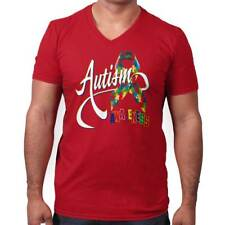 Autism Awareness Autistic Disability Different Unique V-Neck T Shirt