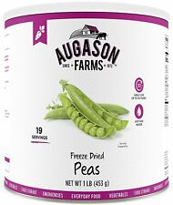 Augason Farms Freeze Dried Peas 1 lb Can No. 10 Can Emergency Food Storage NEW