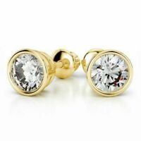0,50 Cts Ronde Brillante Couper Diamants Clous Boucles d'oreilles En 750 18K Or