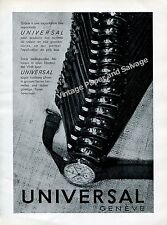 1942 Universal Geneve Watch Company Switzerland Vintage 1940s Swiss Ad Advert