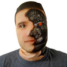 Cyborg Terminator Design 3D Effect Face Skin Lycra Fabric Face Mask Halloween