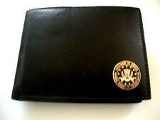 FBI Italian Leather Bi Fold Mens Black Wallet