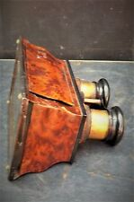 Victorian steroscopic viewer with collection of cards