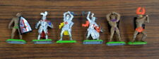 Vintage 1987 BRITAINS Lot of 6 FIGURES Hollow Diecast Knights Midieval Figures