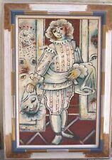 """Magnifique grand tableau datant des années 1940-50  """"Mezzetin"""" signé"""