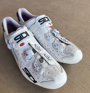 SIDI Wire Vent Carbon Vernice Road Cycling Shoes, Men's 45 EU, White