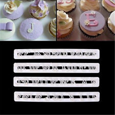 4pcs alphabet russian letter fondant mold decor cutter sugarcraft cake mould_S
