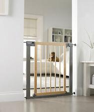 Lindam Sure Shut Deco Stair Gate - 75-82cm - Metal/Wood - NEW