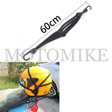 Cargo Helmet Holder Luggage Net with Buckle Adjustable for Motorcycle Fixed Rope