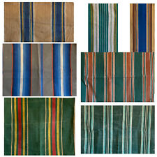Collection of Seven Vintage 20th C. French Cotton Awning Stripes (3189 )